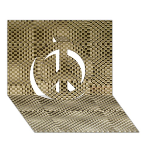 Fashion Style Glass Pattern Peace Sign 3D Greeting Card (7x5)