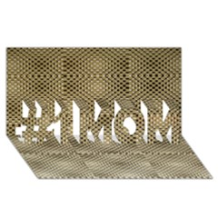 Fashion Style Glass Pattern #1 MOM 3D Greeting Cards (8x4)