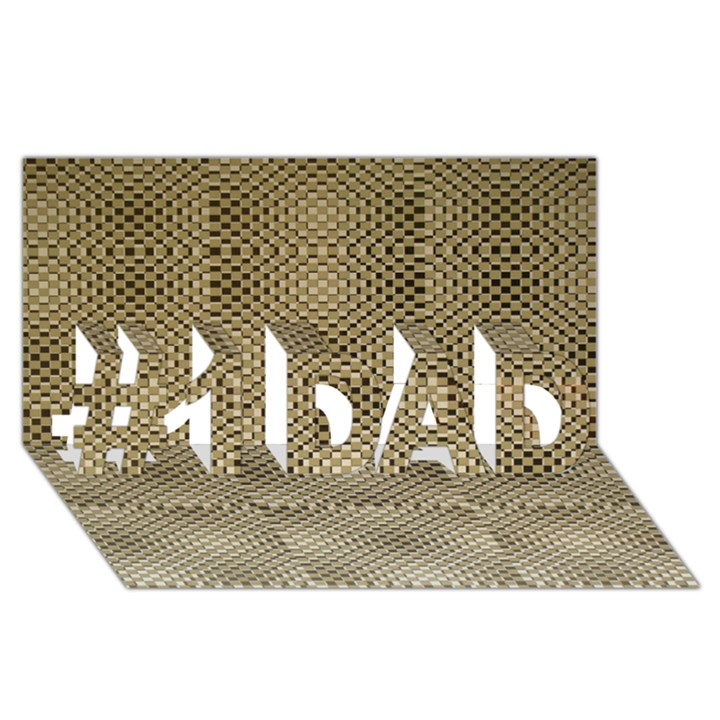 Fashion Style Glass Pattern #1 DAD 3D Greeting Card (8x4)