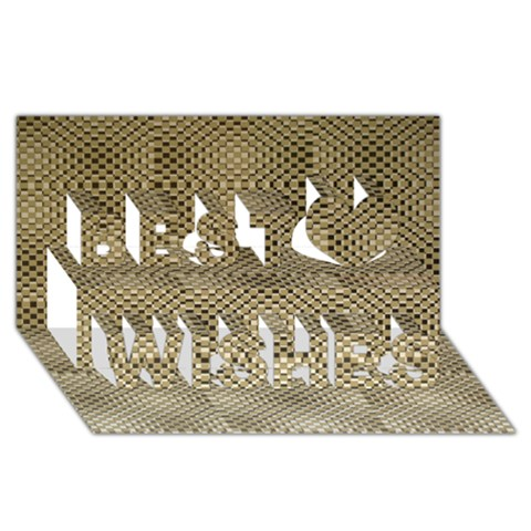 Fashion Style Glass Pattern Best Wish 3D Greeting Card (8x4)