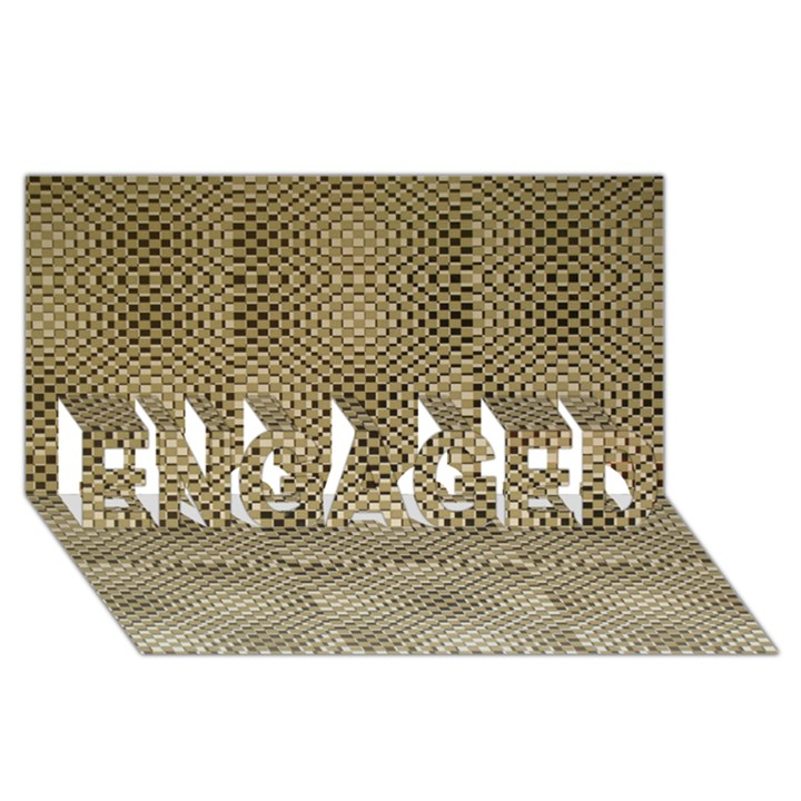 Fashion Style Glass Pattern ENGAGED 3D Greeting Card (8x4)