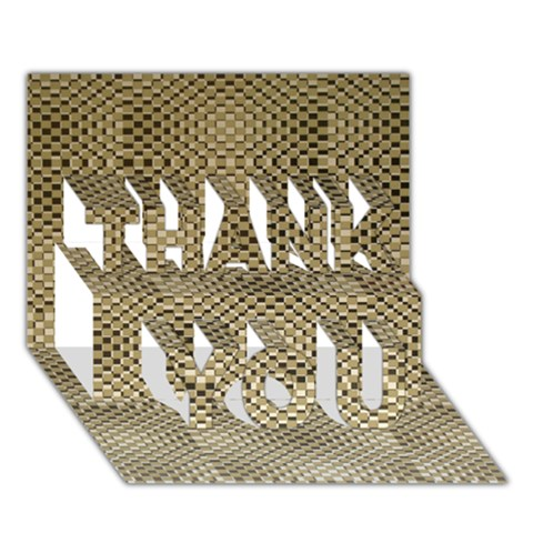 Fashion Style Glass Pattern THANK YOU 3D Greeting Card (7x5)