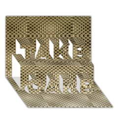 Fashion Style Glass Pattern TAKE CARE 3D Greeting Card (7x5)