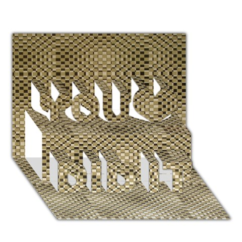 Fashion Style Glass Pattern You Did It 3D Greeting Card (7x5)