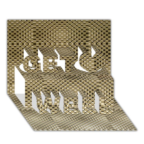 Fashion Style Glass Pattern Get Well 3D Greeting Card (7x5)