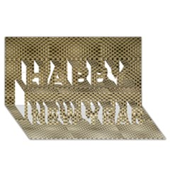 Fashion Style Glass Pattern Happy New Year 3D Greeting Card (8x4)