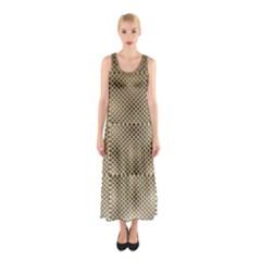 Fashion Style Glass Pattern Sleeveless Maxi Dress