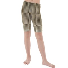 Fashion Style Glass Pattern Kids  Mid Length Swim Shorts