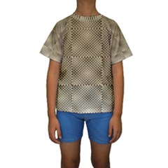 Fashion Style Glass Pattern Kids  Short Sleeve Swimwear