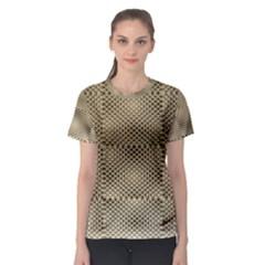 Fashion Style Glass Pattern Women s Sport Mesh Tee