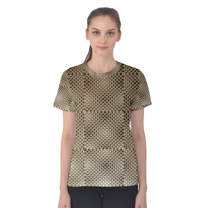Fashion Style Glass Pattern Women s Cotton Tee