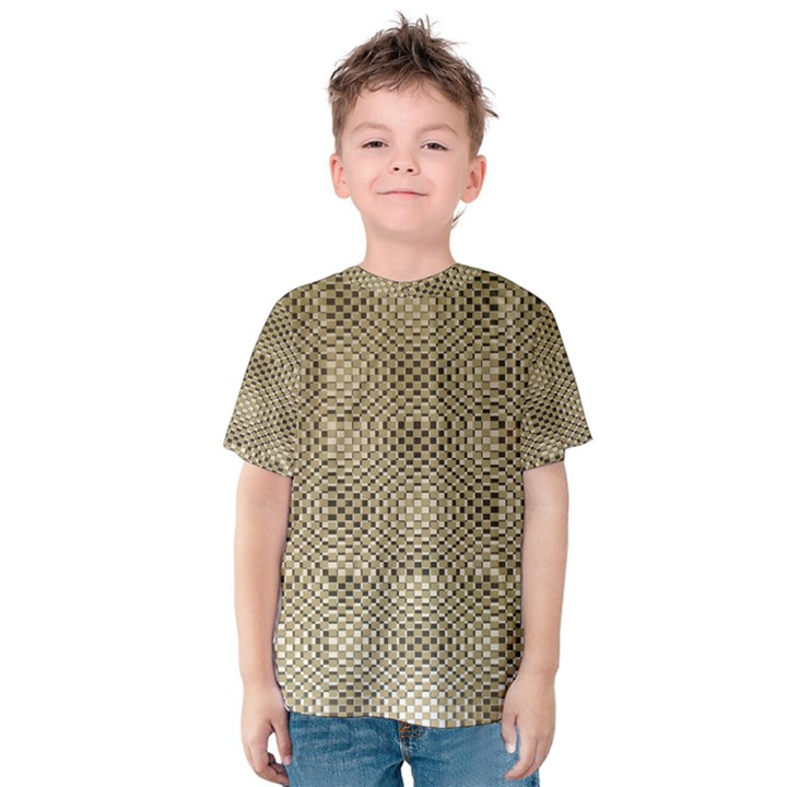 Fashion Style Glass Pattern Kids  Cotton Tee