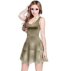 Fashion Style Glass Pattern Reversible Sleeveless Dress