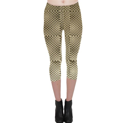 Fashion Style Glass Pattern Capri Leggings