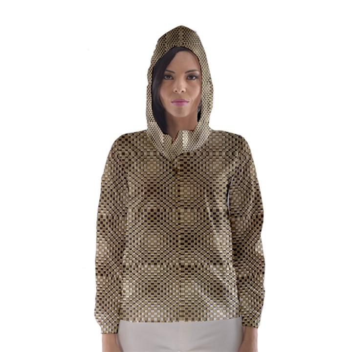 Fashion Style Glass Pattern Hooded Wind Breaker (Women)