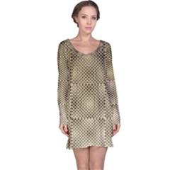 Fashion Style Glass Pattern Long Sleeve Nightdress