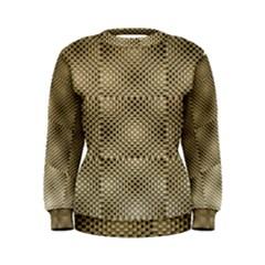 Fashion Style Glass Pattern Women s Sweatshirt