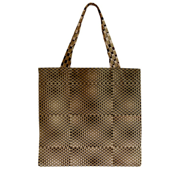 Fashion Style Glass Pattern Zipper Grocery Tote Bag