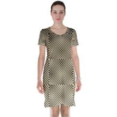 Fashion Style Glass Pattern Short Sleeve Nightdress