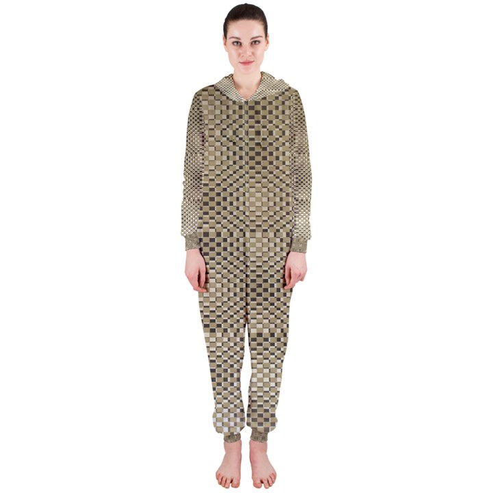 Fashion Style Glass Pattern Hooded Jumpsuit (Ladies)
