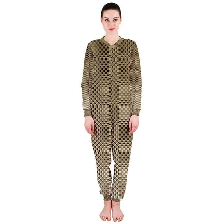 Fashion Style Glass Pattern OnePiece Jumpsuit (Ladies)