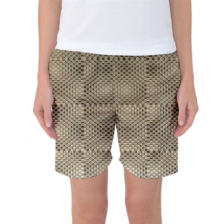 Fashion Style Glass Pattern Women s Basketball Shorts