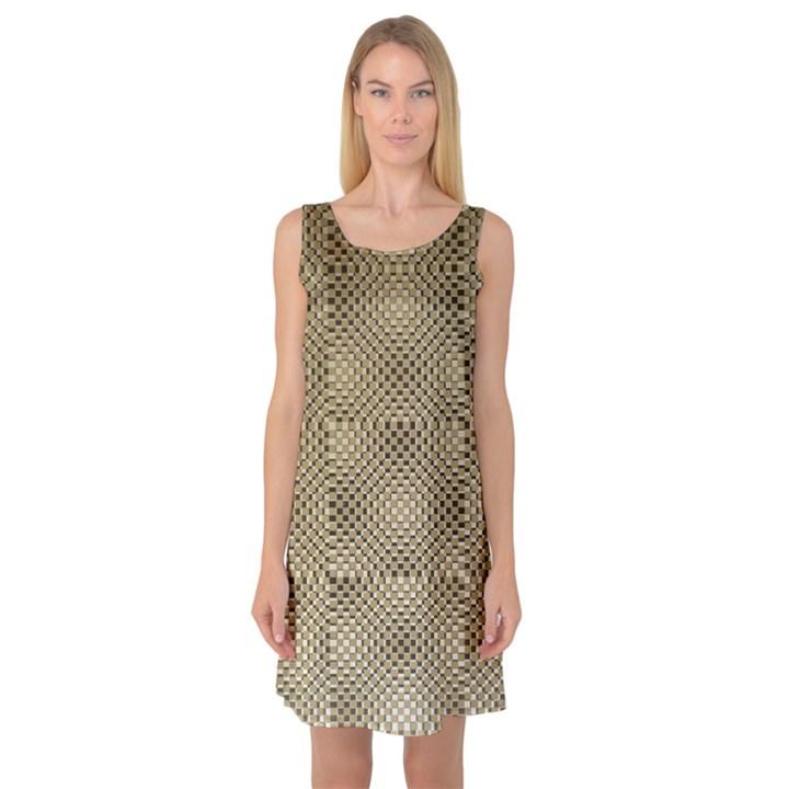 Fashion Style Glass Pattern Sleeveless Satin Nightdress