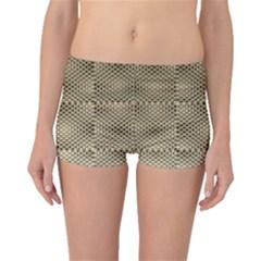 Fashion Style Glass Pattern Boyleg Bikini Bottoms