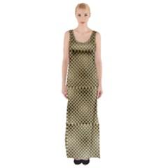 Fashion Style Glass Pattern Maxi Thigh Split Dress