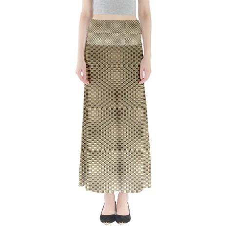 Fashion Style Glass Pattern Maxi Skirts