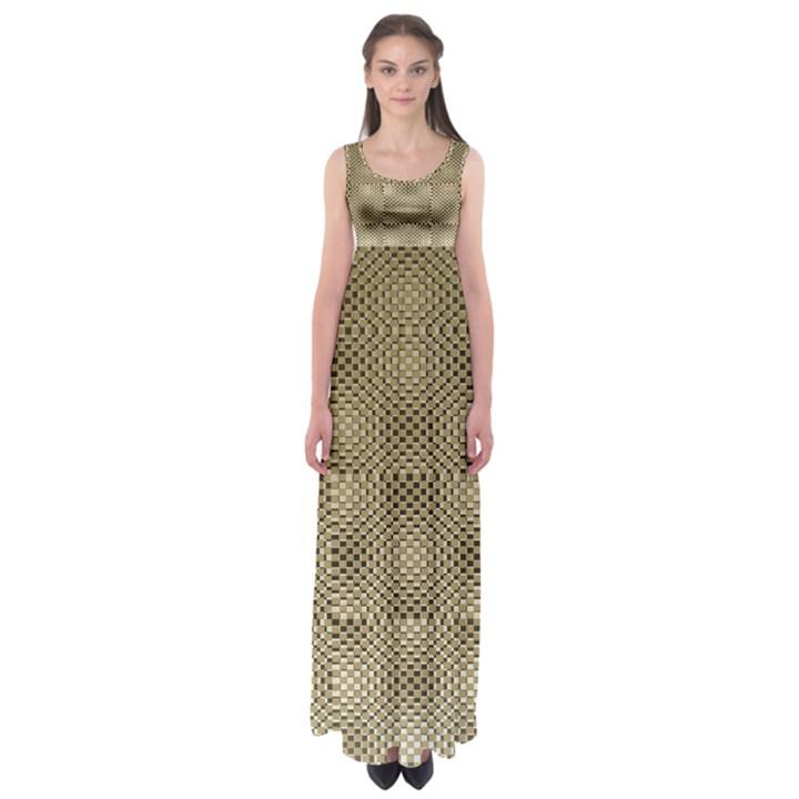 Fashion Style Glass Pattern Empire Waist Maxi Dress