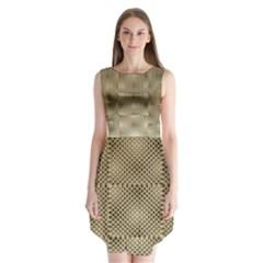Fashion Style Glass Pattern Sleeveless Chiffon Dress