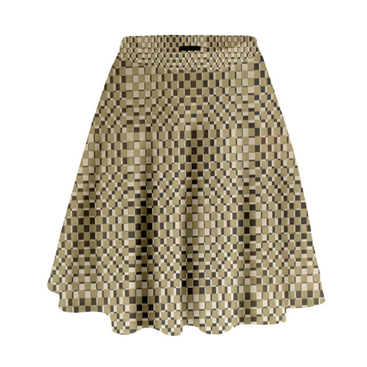 Fashion Style Glass Pattern High Waist Skirt