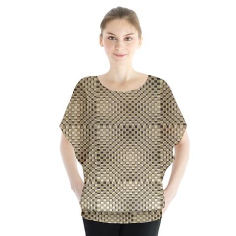 Fashion Style Glass Pattern Blouse