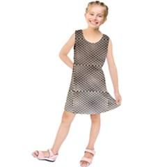 Fashion Style Glass Pattern Kids  Tunic Dress