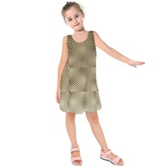 Fashion Style Glass Pattern Kids  Sleeveless Dress