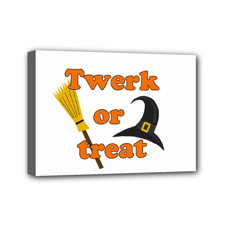 Twerk or treat - Funny Halloween design Mini Canvas 7  x 5