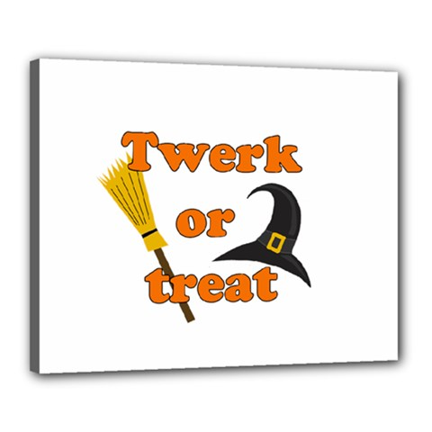Twerk Or Treat   Funny Halloween Design Canvas 20  X 16