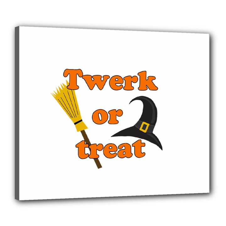 Twerk or treat - Funny Halloween design Canvas 24  x 20