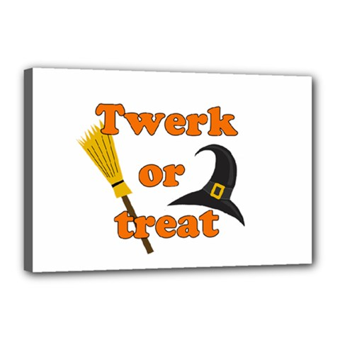 Twerk or treat - Funny Halloween design Canvas 18  x 12