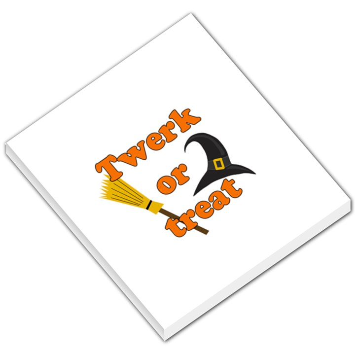 Twerk or treat - Funny Halloween design Small Memo Pads