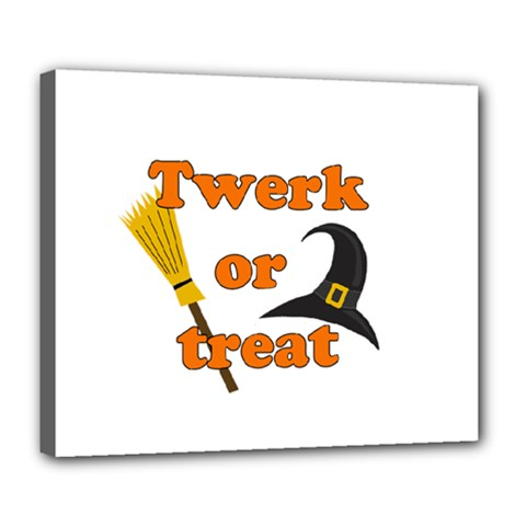 Twerk Or Treat   Funny Halloween Design Deluxe Canvas 24  X 20