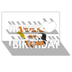Twerk Or Treat   Funny Halloween Design Happy Birthday 3d Greeting Card (8x4)