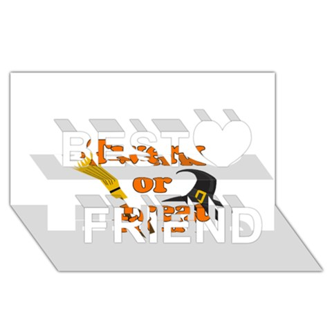 Twerk or treat - Funny Halloween design Best Friends 3D Greeting Card (8x4)