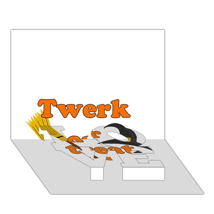 Twerk or treat - Funny Halloween design LOVE Bottom 3D Greeting Card (7x5)