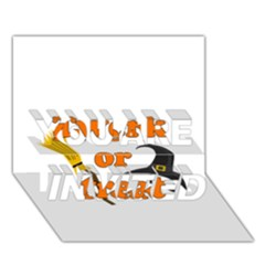 Twerk Or Treat   Funny Halloween Design You Are Invited 3d Greeting Card (7x5)