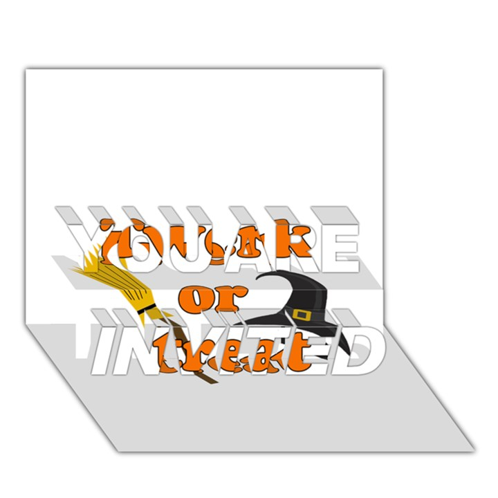 Twerk or treat - Funny Halloween design YOU ARE INVITED 3D Greeting Card (7x5)