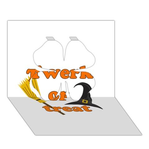 Twerk or treat - Funny Halloween design Clover 3D Greeting Card (7x5)