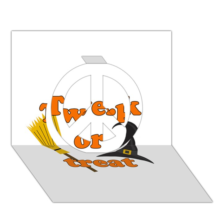 Twerk or treat - Funny Halloween design Peace Sign 3D Greeting Card (7x5)