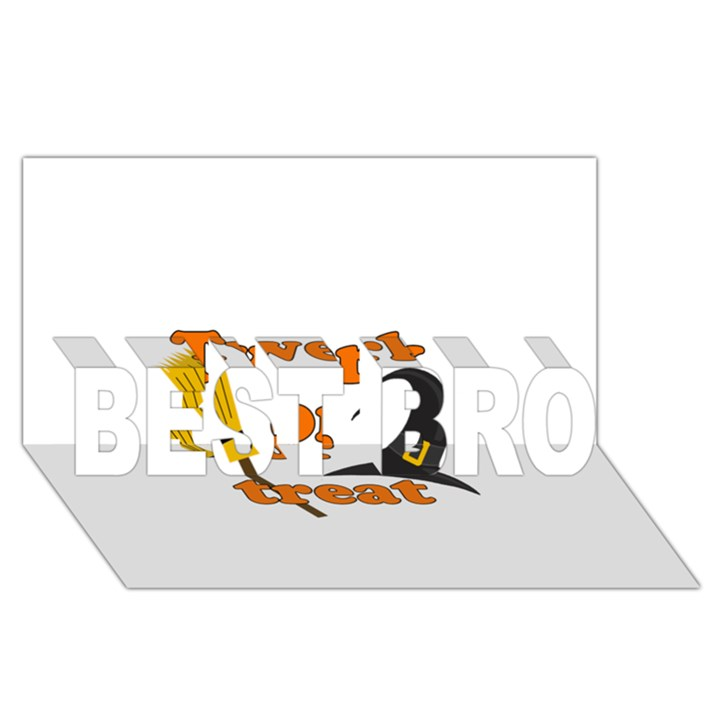 Twerk or treat - Funny Halloween design BEST BRO 3D Greeting Card (8x4)